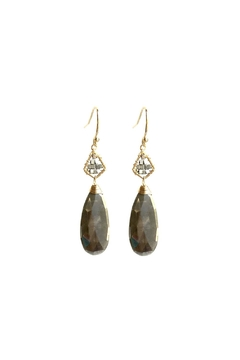 Michelle Pressler Grey Moonstone Earrings - Product List Image