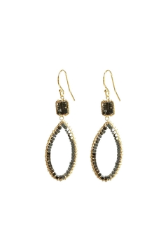 Shoptiques Product: Hematite Hoop Earrings
