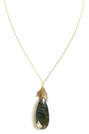 Michelle Pressler Labradorite Pendant Necklace - Front full body