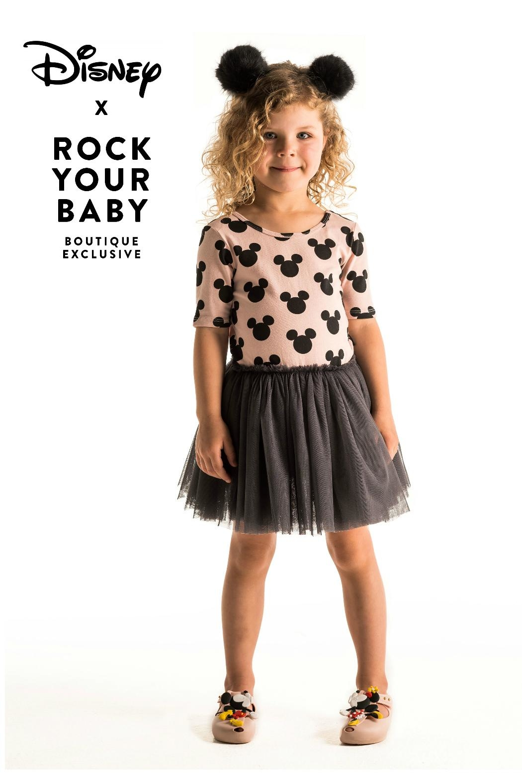 Rock Your Baby Mickey Silhouette Dress - Front Full Image