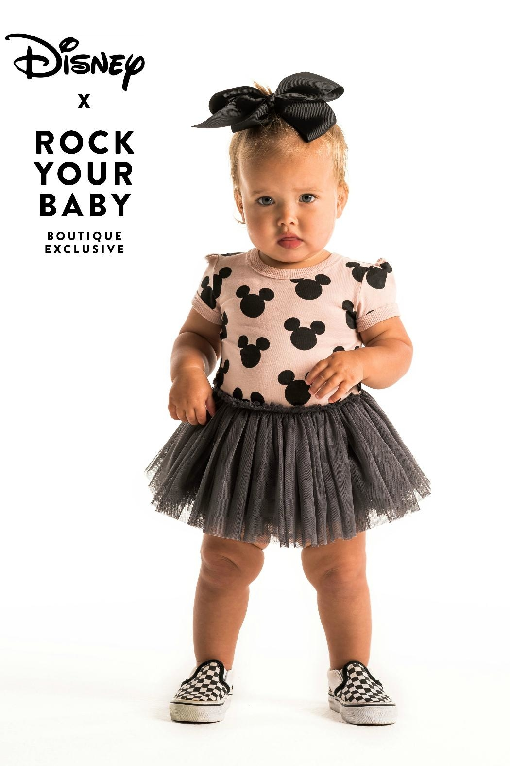 Rock Your Baby Mickey Silhouette Dress - Side Cropped Image