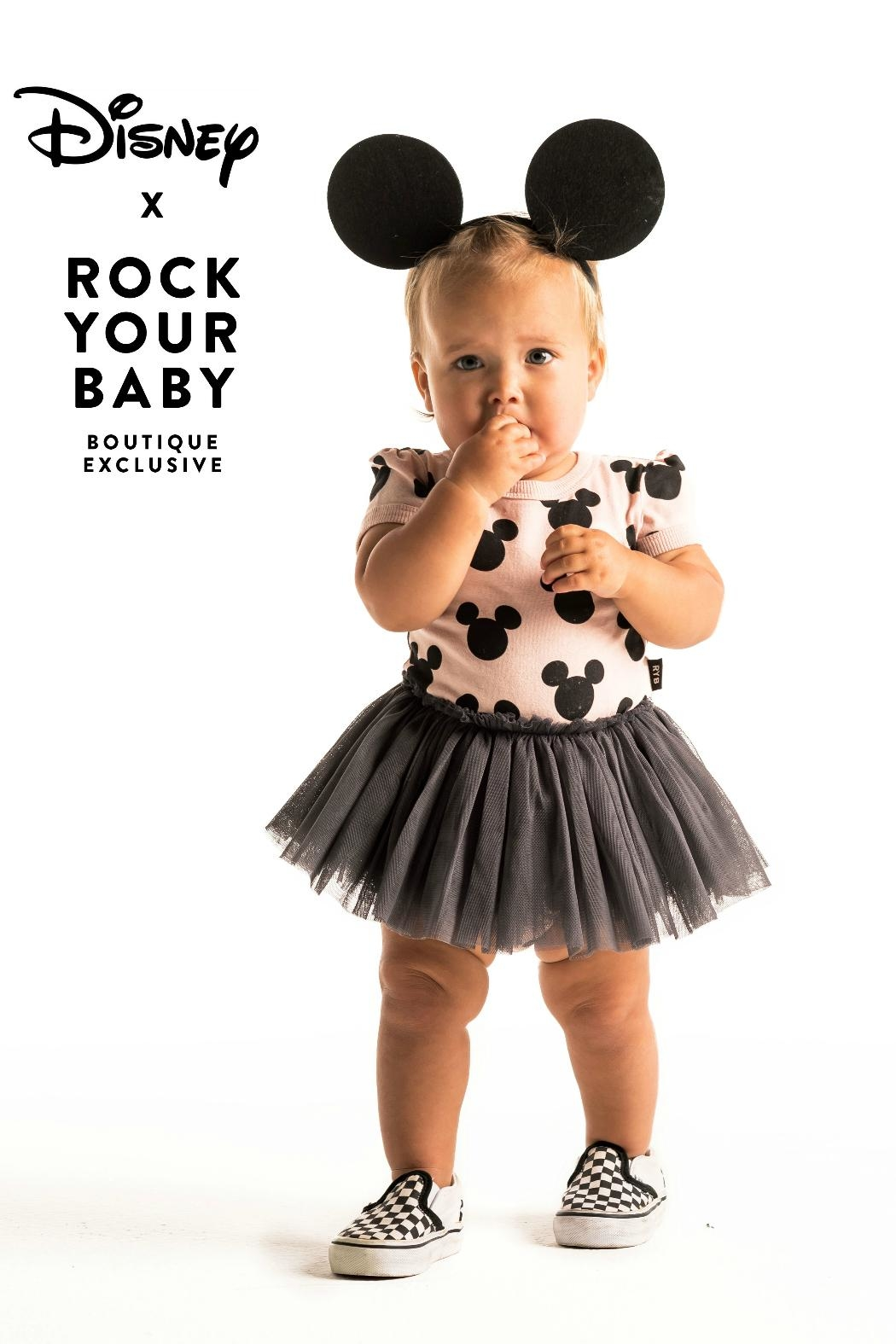 Rock Your Baby Mickey Silhouette Dress - Main Image
