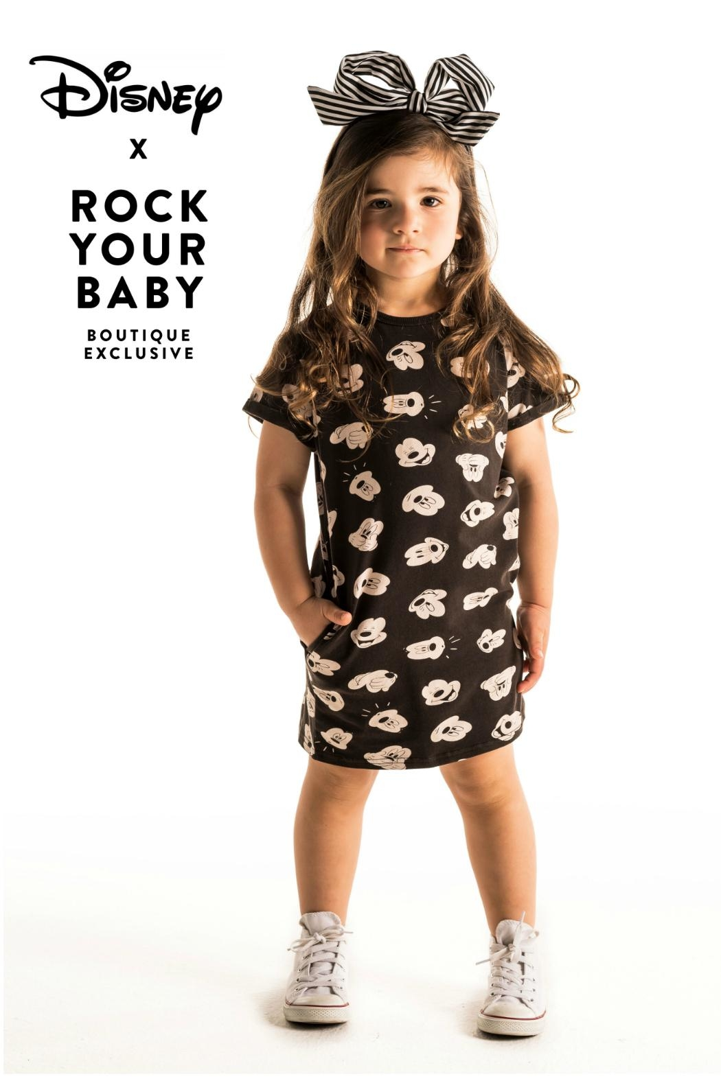 Rock Your Baby Mickey T-Shirt Dress - Front Full Image
