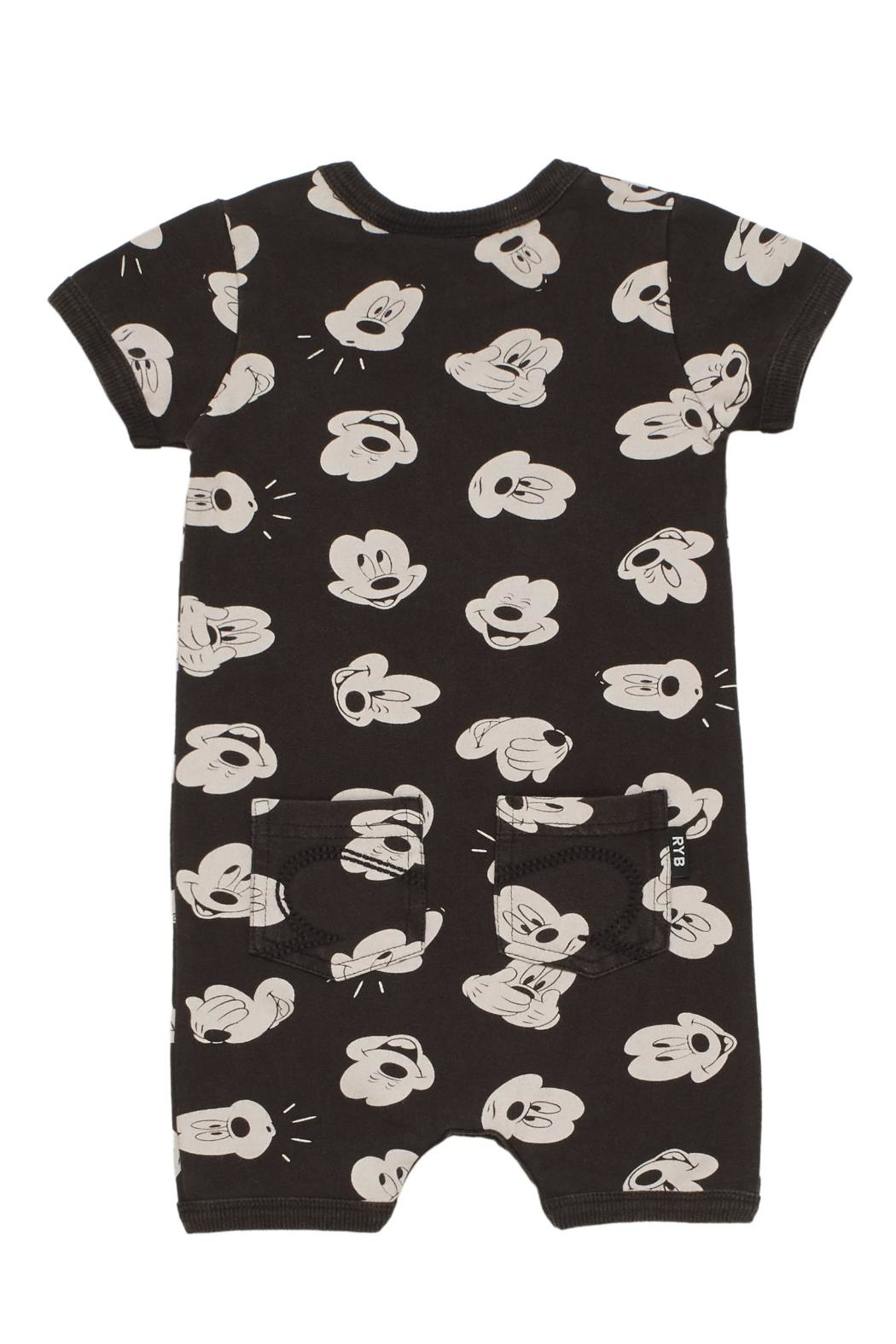Rock Your Baby Mickey Visage Playsuit - Front Full Image