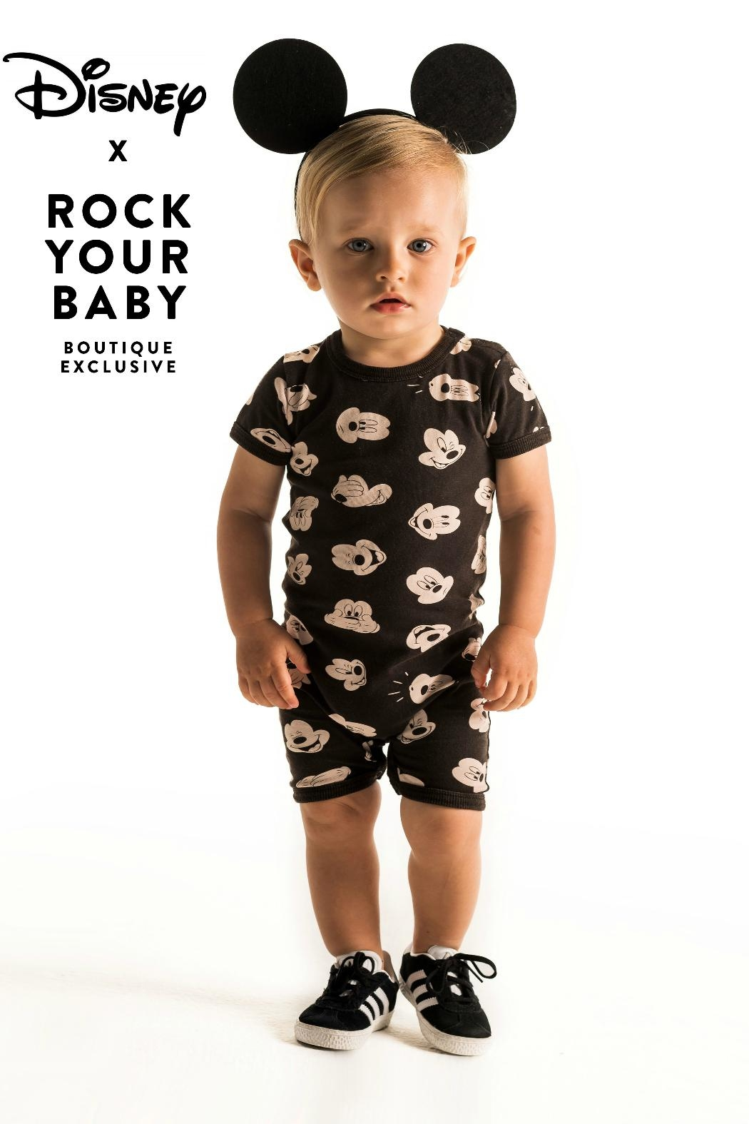 Rock Your Baby Mickey Visage Playsuit - Side Cropped Image