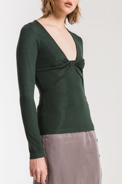 z supply Micro Rib Scarlet Top - Product List Image