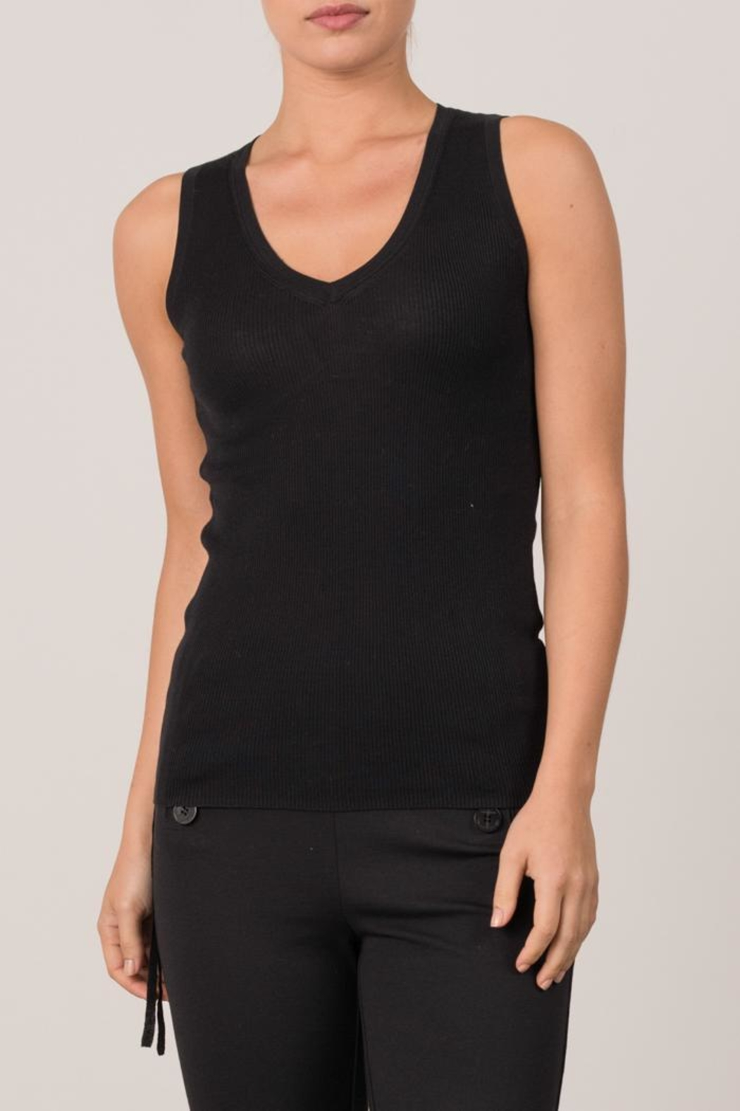 Margaret O'Leary Micro Rib Tank - Front Cropped Image