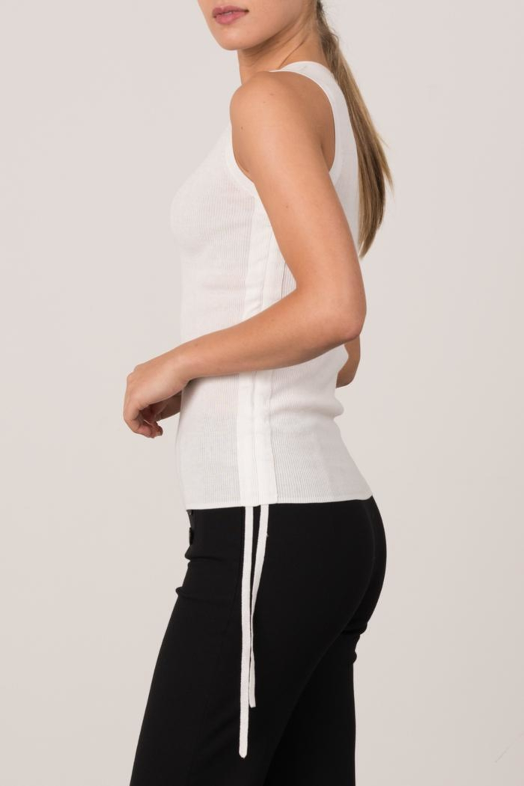 Margaret O'Leary Micro Rib Tank - Front Full Image
