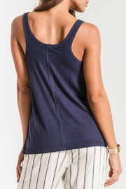 z supply Micro Rib Tie Front Tank - Side cropped