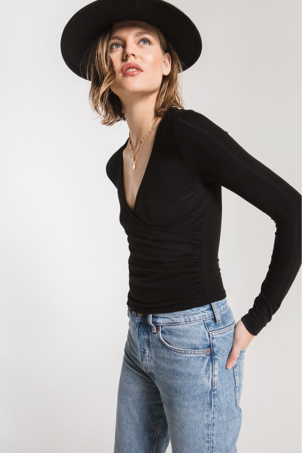 z supply Micro Rib Wrap Top - Main Image