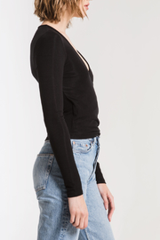 z supply Micro Rib Wrap Top - Front full body