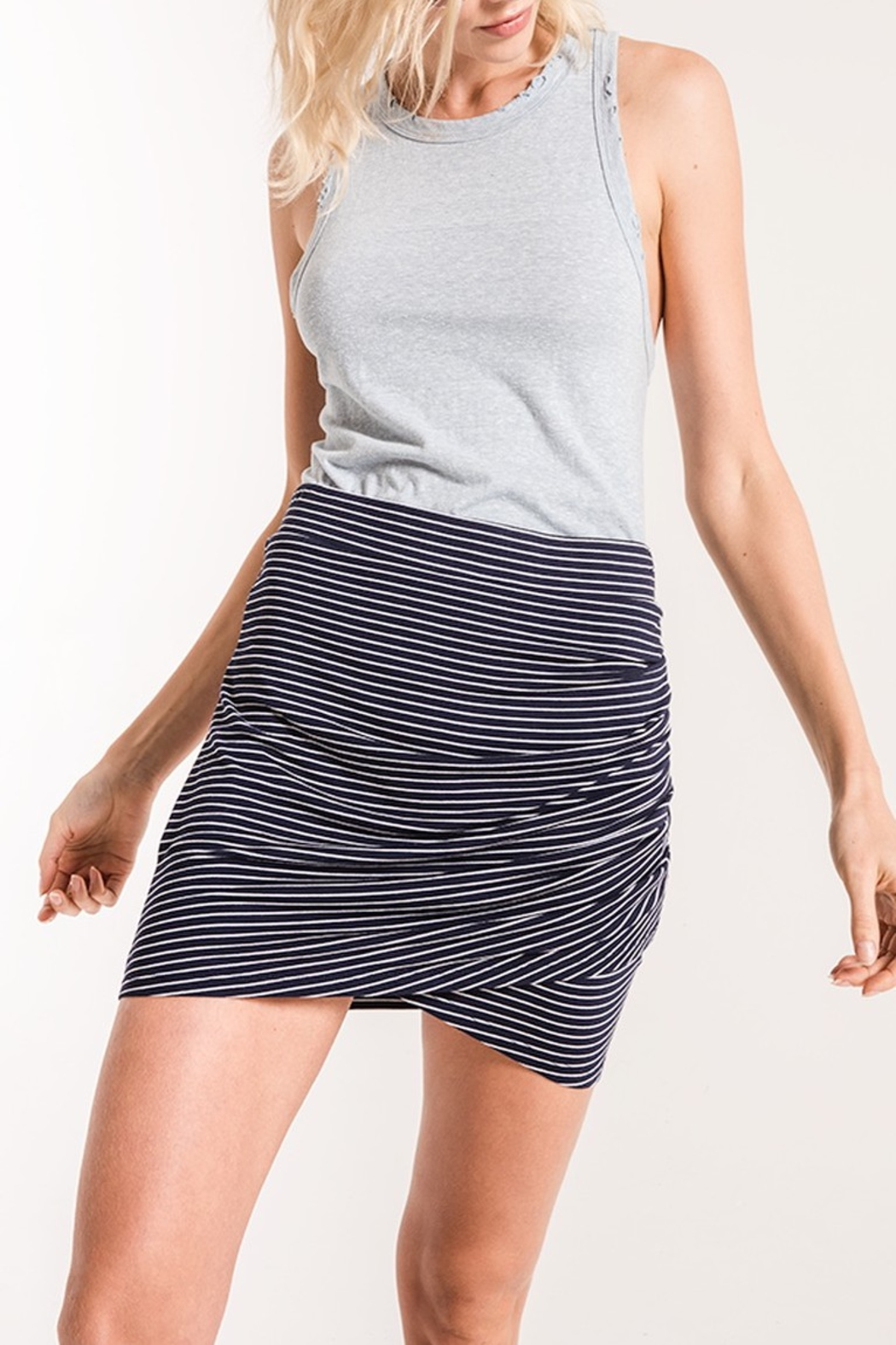 z supply Micro Stripe Wrap Skirt - Front Cropped Image
