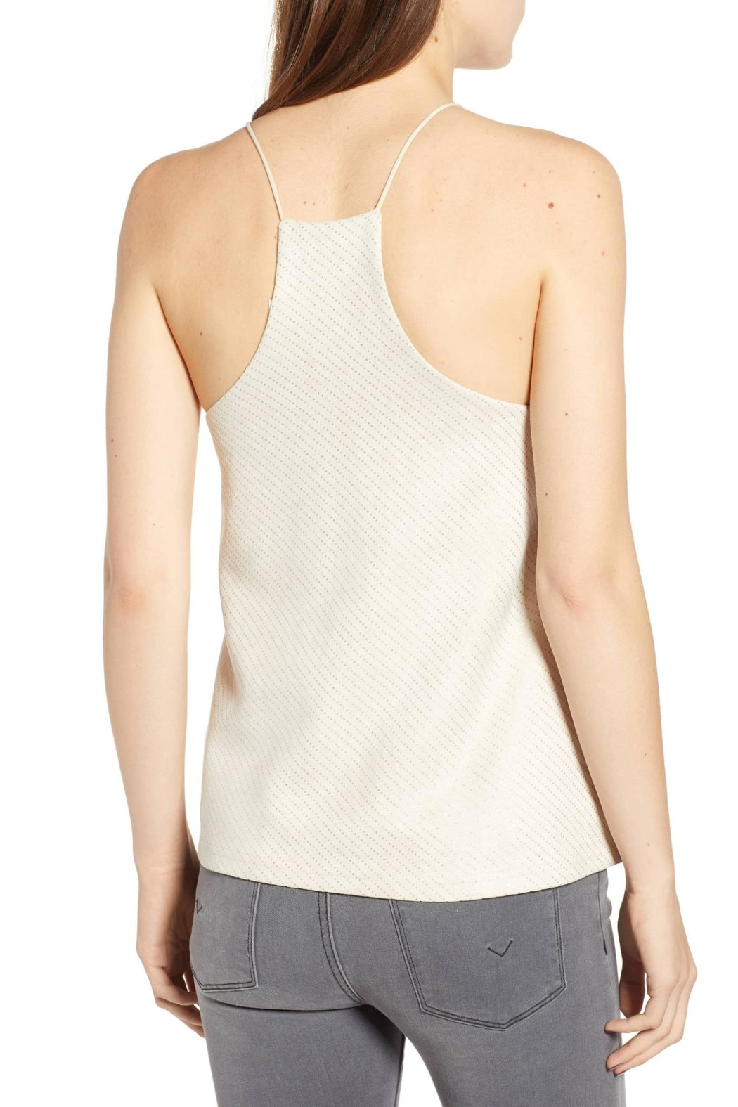 Bishop + Young Micro-Stud Faux-Suede Camisole - Front Full Image