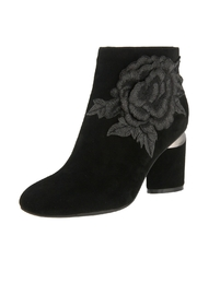 Spring Footwear Micro-Suede Applique Bootie - Product Mini Image