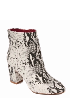 Shoptiques Product: Micro Suede Snake Print Vegan Booties