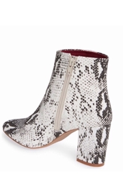 Band Of Gypsies Micro Suede Snake Print Vegan Booties - Back cropped