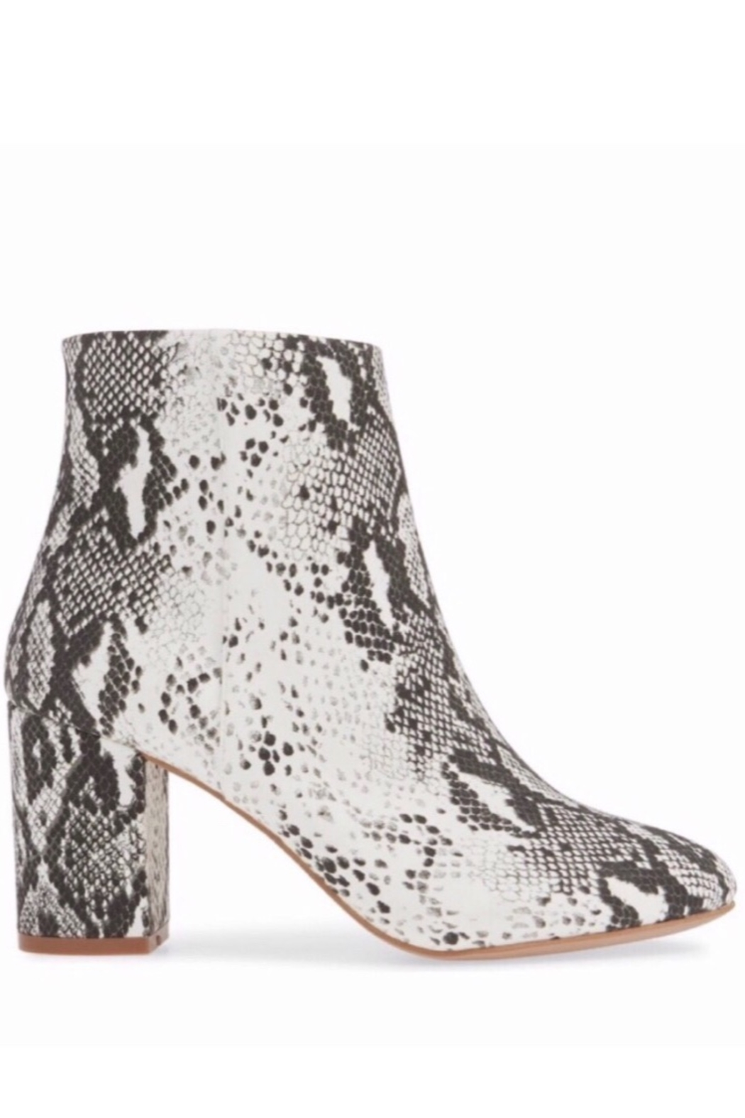 Band Of Gypsies Micro Suede Snake Print Vegan Booties - Front Full Image