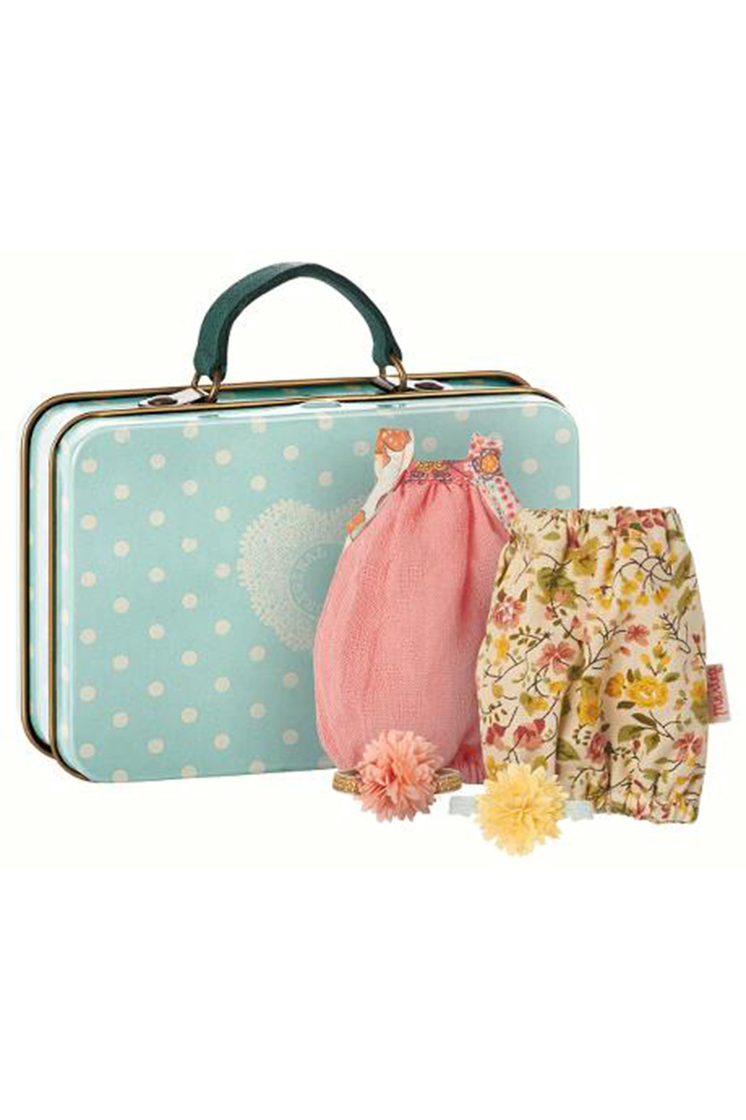 Maileg Micro Suitcase With 2 Dresses For Girl Mice - Main Image