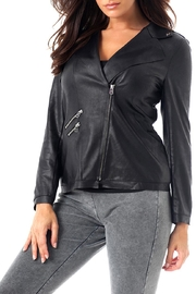 Angel Apparel Microfiber Leather Jacket - Front cropped