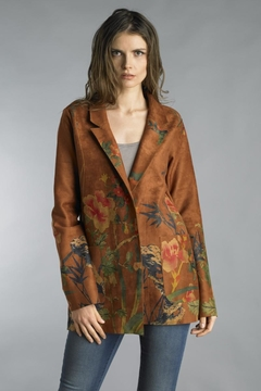 Shoptiques Product: Microsuede Printed Blazer