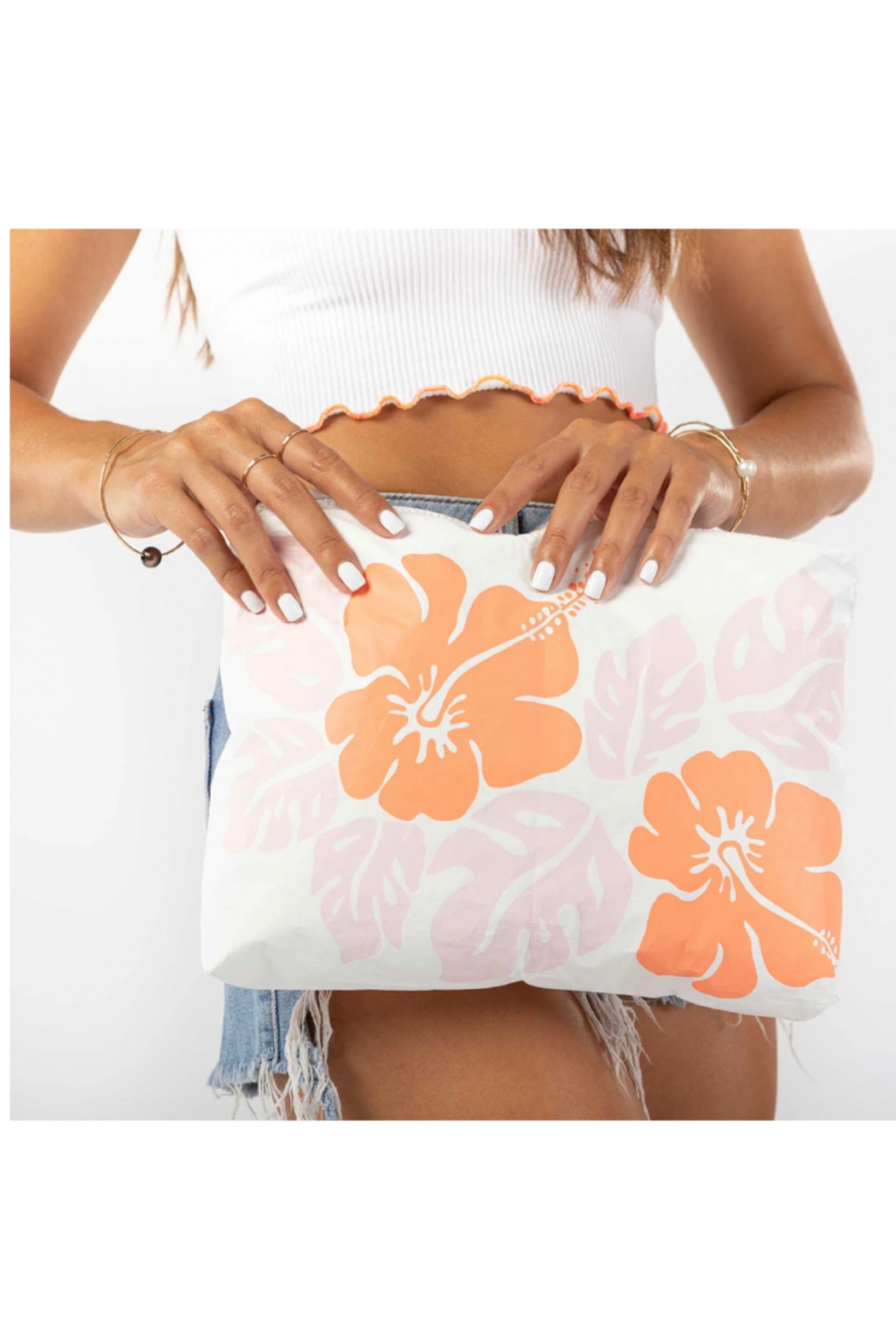 Aloha Collection Mid Big Island Hibiscus Pouch - Main Image