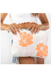 Aloha Collection Mid Big Island Hibiscus Pouch - Front cropped