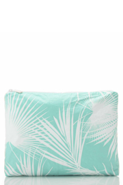 Aloha Collection Mid Day Palms Pouch in Pool - Front cropped