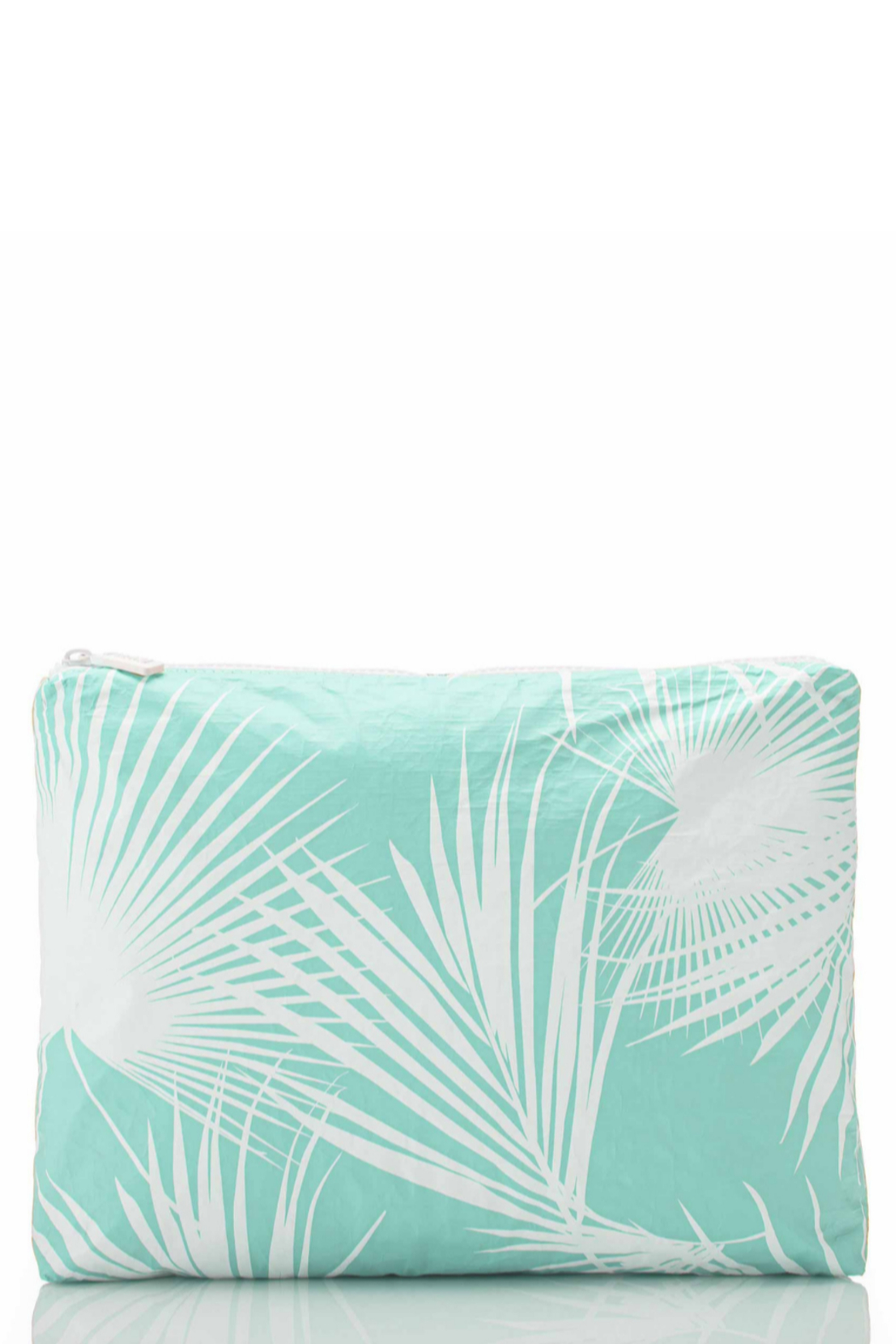 Aloha Collection Mid Day Palms Pouch in Pool - Front Cropped Image
