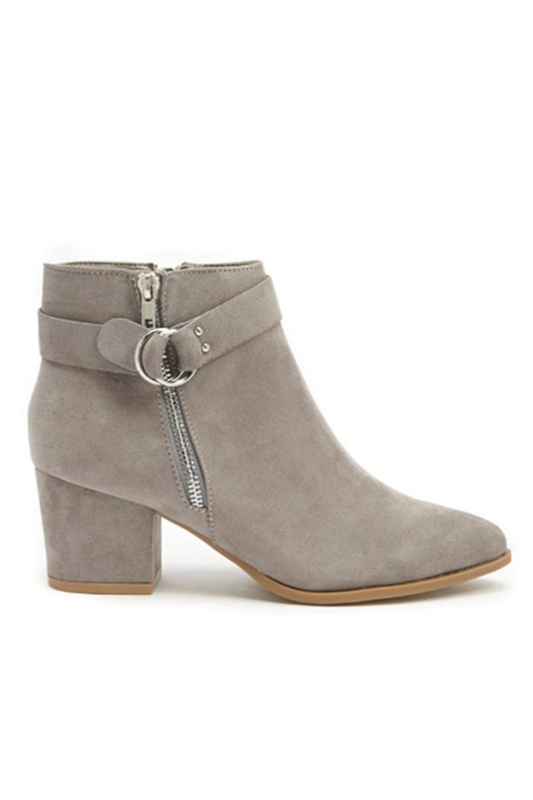 Bamboo Mid Heel Bootie - Front Cropped Image