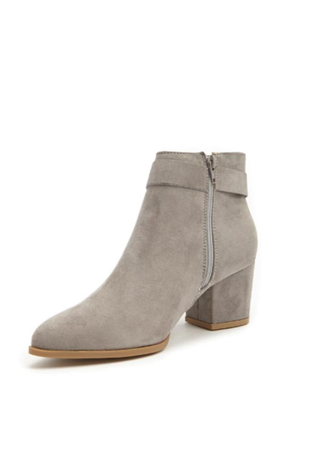 Bamboo Mid Heel Bootie - Side Cropped Image