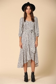 By Together  Mid Length Animal Print Dress with Belt - Product Mini Image