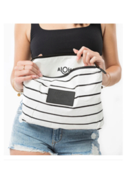Aloha Collection Mid Pinstripe Pouch - Side cropped