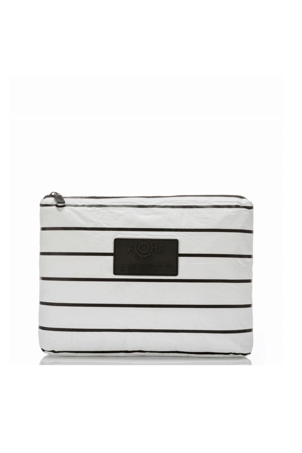 Aloha Collection Mid Pinstripe Pouch - Front Cropped Image