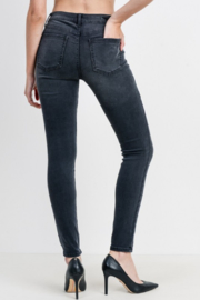 Just Black Denim Mid Rise Button Down Skinny - Side cropped