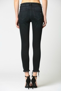 Hidden Jeans Mid Rise Clean Stretch Frayed Hem Skinny - Alternate List Image