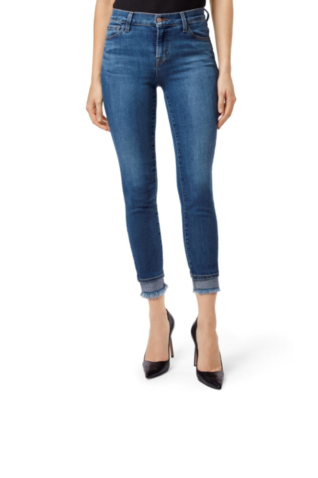 J Brand  Mid-Rise Crop Skinny - Front Cropped Image
