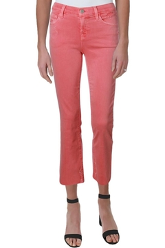 Shoptiques Product: Mid-Rise Crop Slightly Distressed Jeans