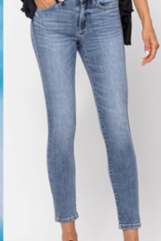 Judy Blue Mid Rise Cropped Skinny Jean - Product Mini Image