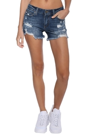 Just USA Mid-Rise Destroyed Short - Back cropped