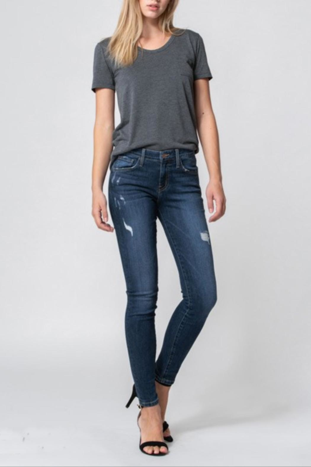 Flying Monkey Mid-Rise Distress Skinny - Front Cropped Image