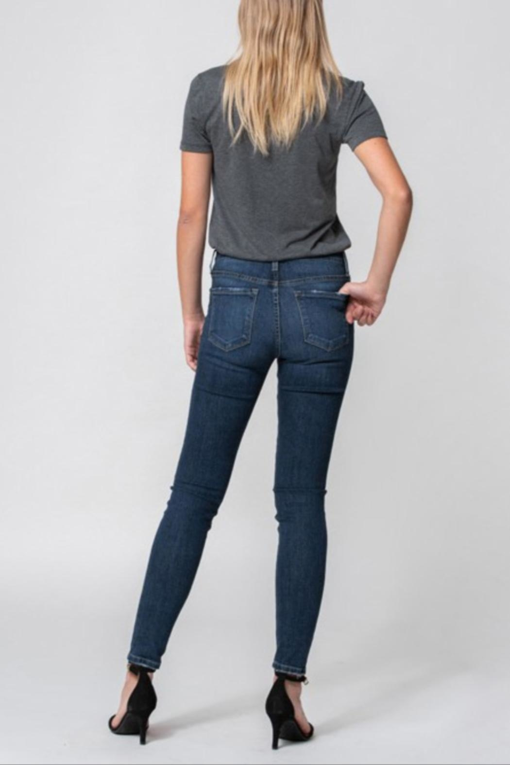 Flying Monkey Mid-Rise Distress Skinny - Side Cropped Image