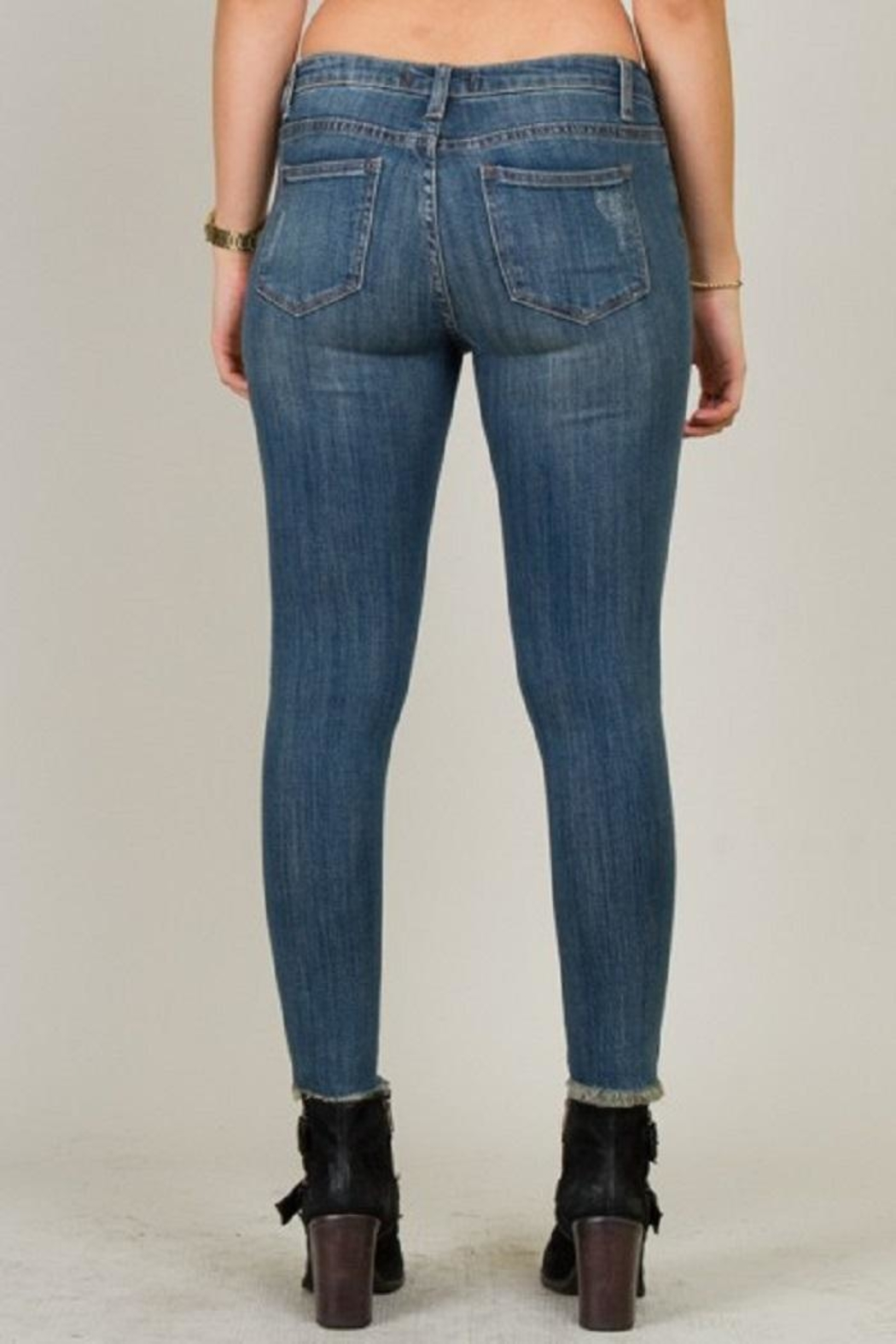 5th Culture Mid-Rise Distressed Denim - Front Full Image