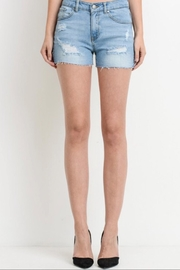Cest Toi Mid-Rise Distressed Shorts - Product Mini Image
