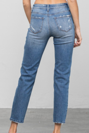 Insane Mid Rise Distressed Skinnies - Front full body