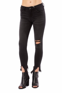 Hidden Jeans Mid-Rise Distressed Skinny-Jean - Product List Image