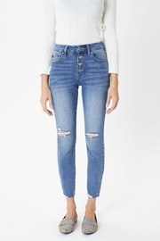 KanCan Mid Rise Exposed Button Skinny - Side cropped