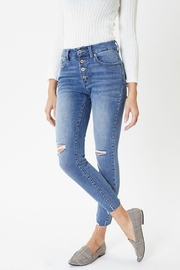 KanCan Mid Rise Exposed Button Skinny - Other