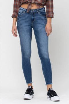 Cello Jeans Mid Rise Fray - Hem Crop Skinny - Product List Image