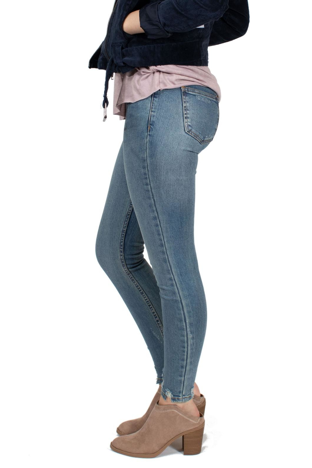 RVCA Mid Rise Jeans - Side Cropped Image