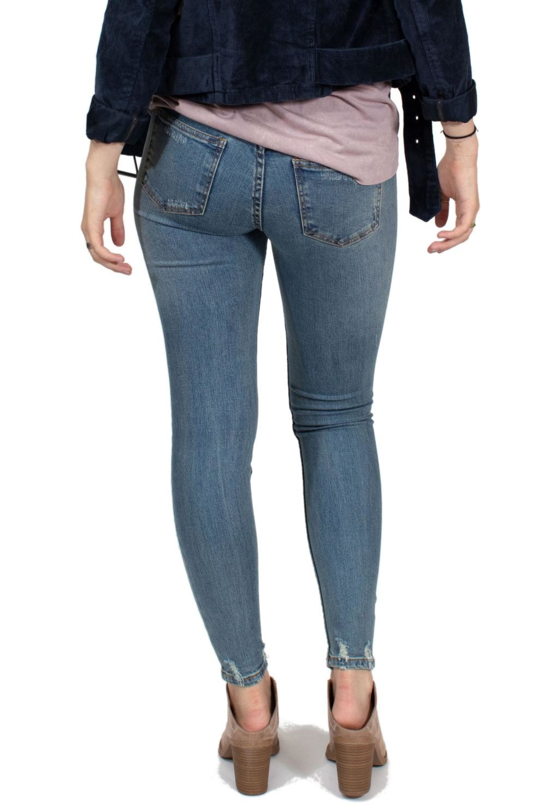 RVCA Mid Rise Jeans - Back Cropped Image
